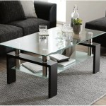 Glass Coffee Table With Lower Shelf Clear Rectangle Glass Coffee Table Modern Coffee Table With Metal Legs Rectangle Center Table Sofa Table Home Furniture For Living Room L5509 Walmart Com Walmart Com