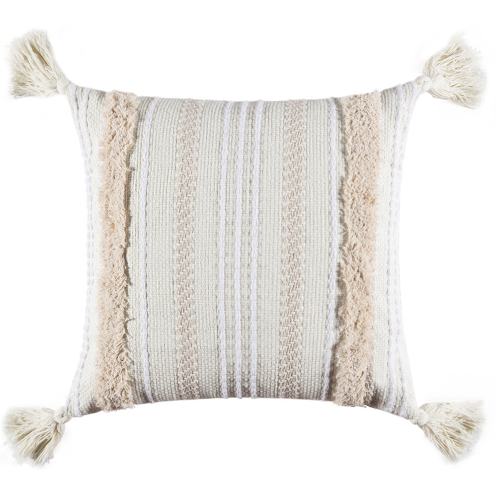 ylhhome 1 2 pcs morocco tassel tufted boho cushion cover throw pillow cases square shaggy christmas decorative pillow cover bed sofa pad 45x45cm