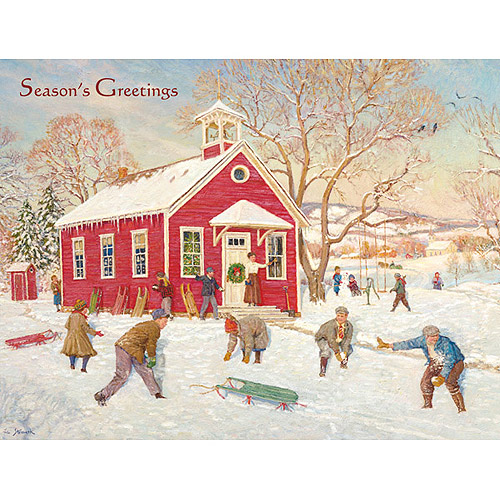 Country School Boxed Christmas Card