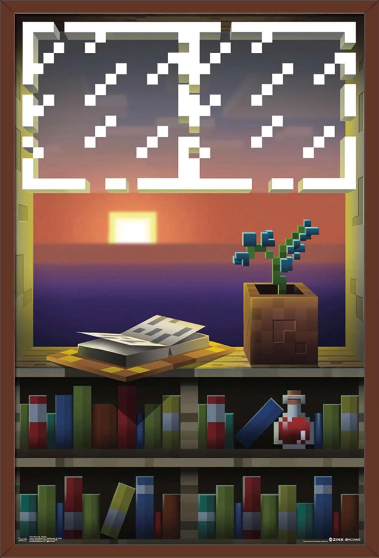 minecraft window poster