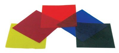 color filters gelatin set of five colors 4x4 inch sheets 4 x 4 by american educational products