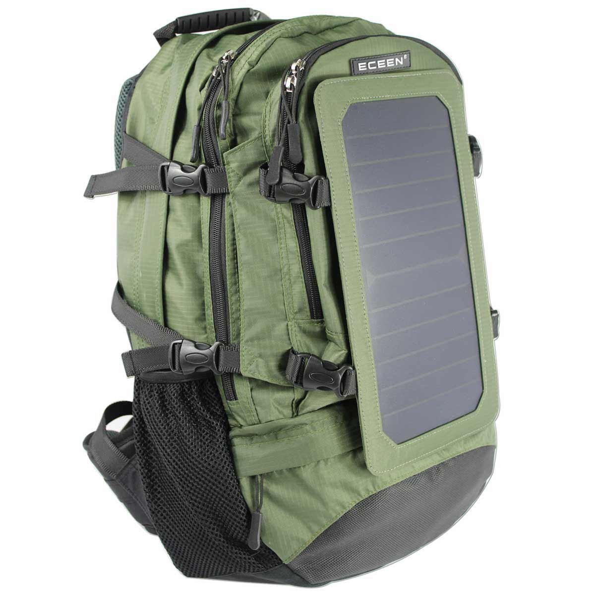 ECEEN® 7Watt Solar Charger Backpack With 10,000 MAH Battery Pack