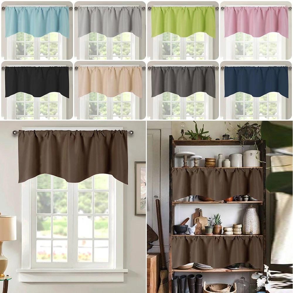 52 x18 rod pocket short curtain valance drape short curtains for windows modern style windows valance for bathroom living room cafe and kitchens