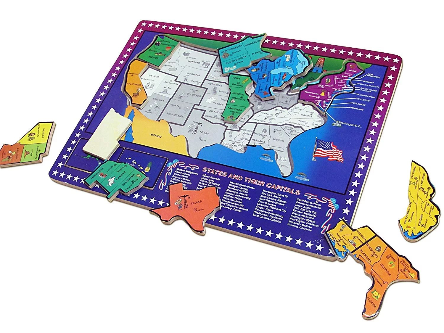 Dazzling Toys Usa Map Puzzle