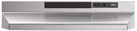 broan nutone 403004 convertible range hood insert with light exhaust fan for under cabinet 30 stainless steel 6 5 sones 160 cfm