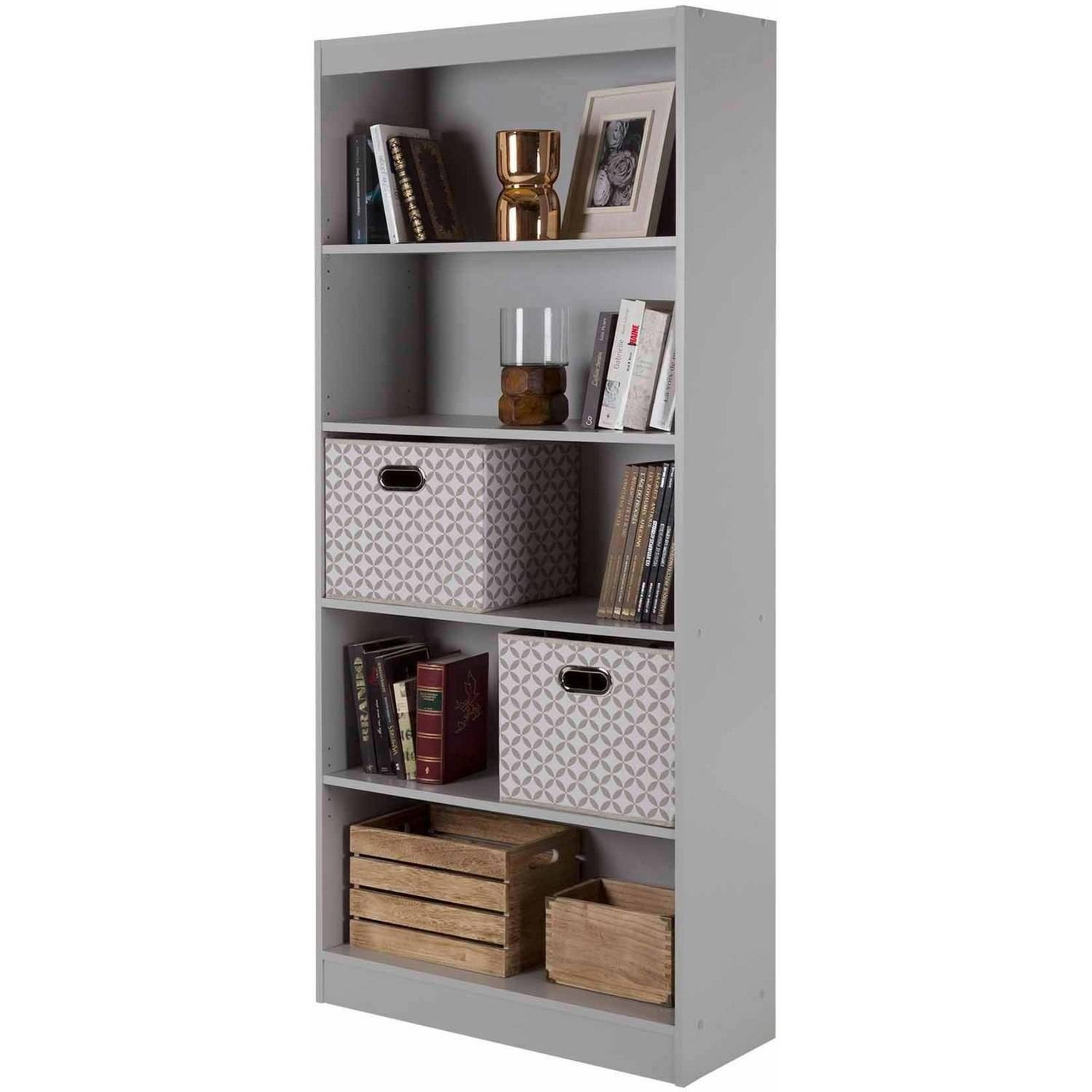 White And Brown Bookcase