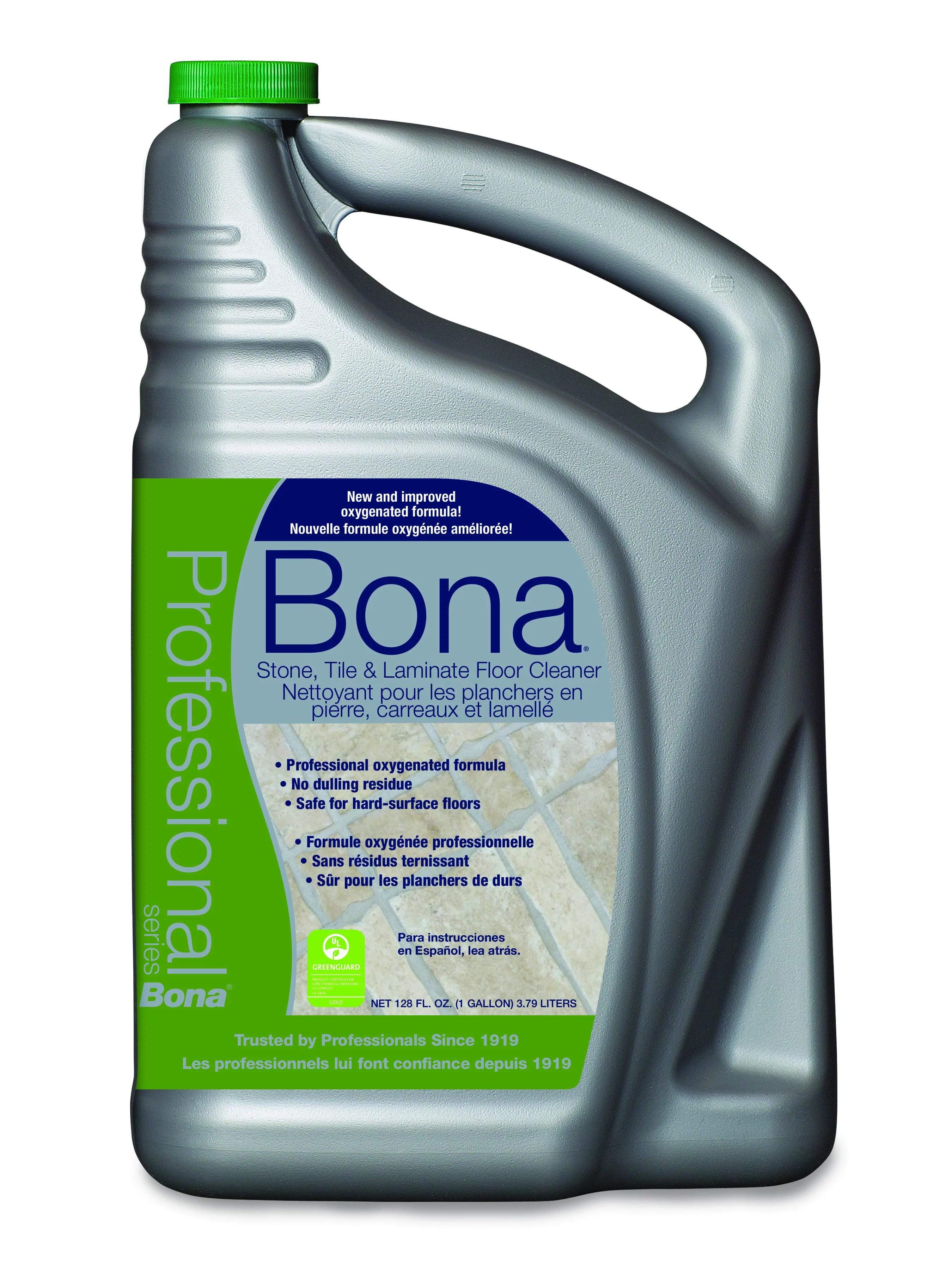 bona pro series stone tile laminate floor cleaner 1 gal refill bottle walmart com