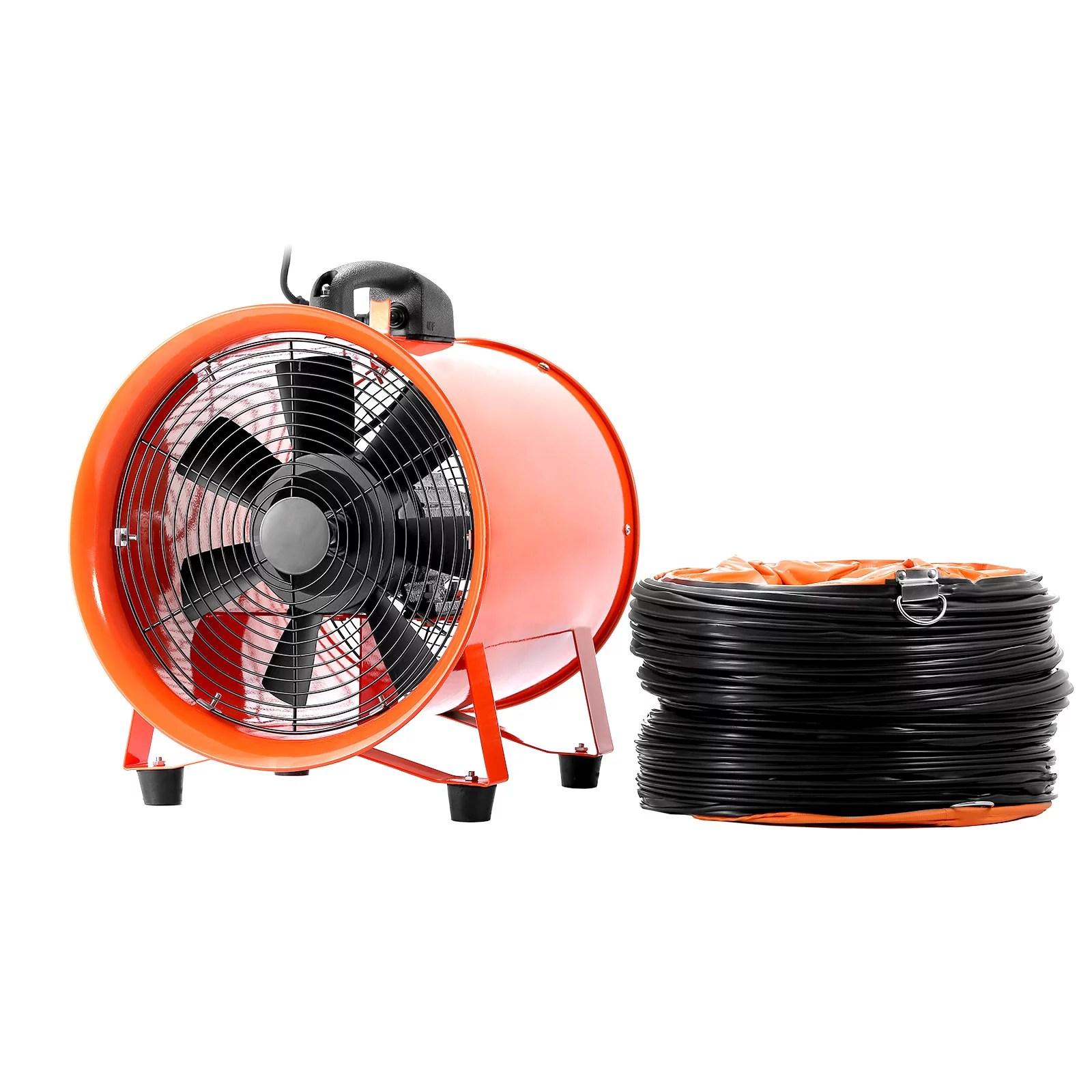 bestequip 12 extractor fan blower portable 5m duct hose fume utility ventilation exhaust walmart com