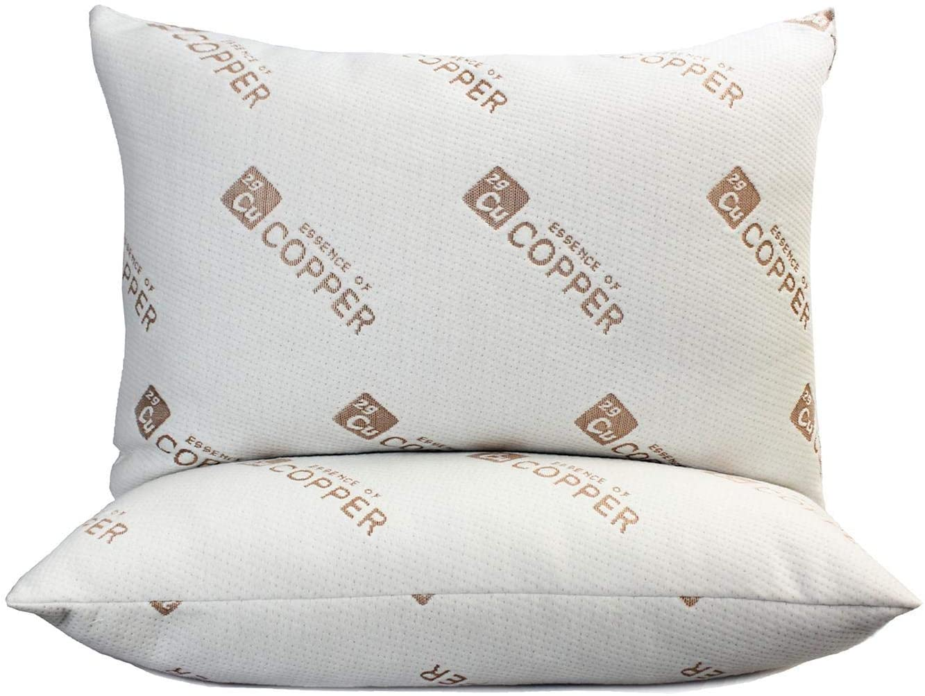 essence of copper down alternative pillow jumbo size 20 x 28 2 pack queen