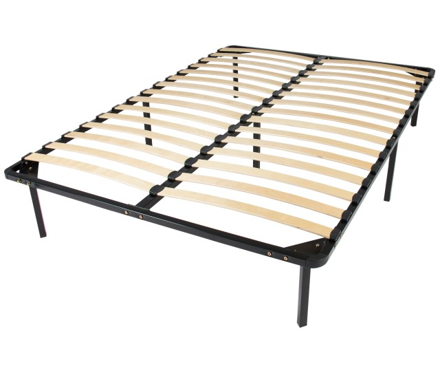 Best Choice Products Queen Size Wooden Slat Metal Bed Frame Wood Platform Bedroom Mattress Foundation W Bottom Storage No Box Spring Needed Black