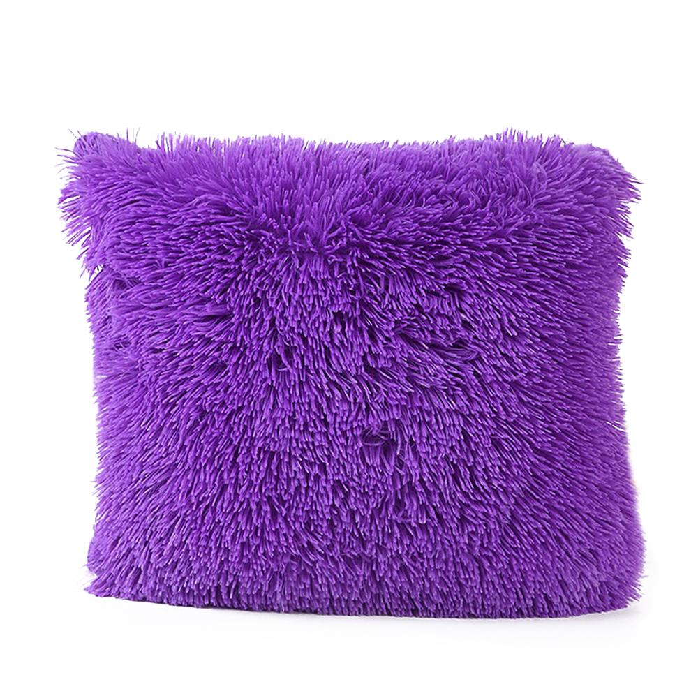 popeven 45x45cm purple plush pillow cover walmart com