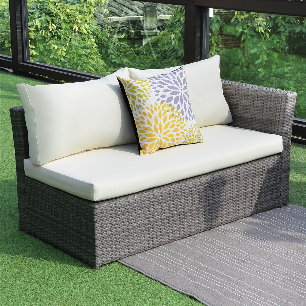 4PCS Patio Sectional Sofa Set Wisteria Lane Outdoor Sofa ... on Outdoor Loveseat Sets  id=55763