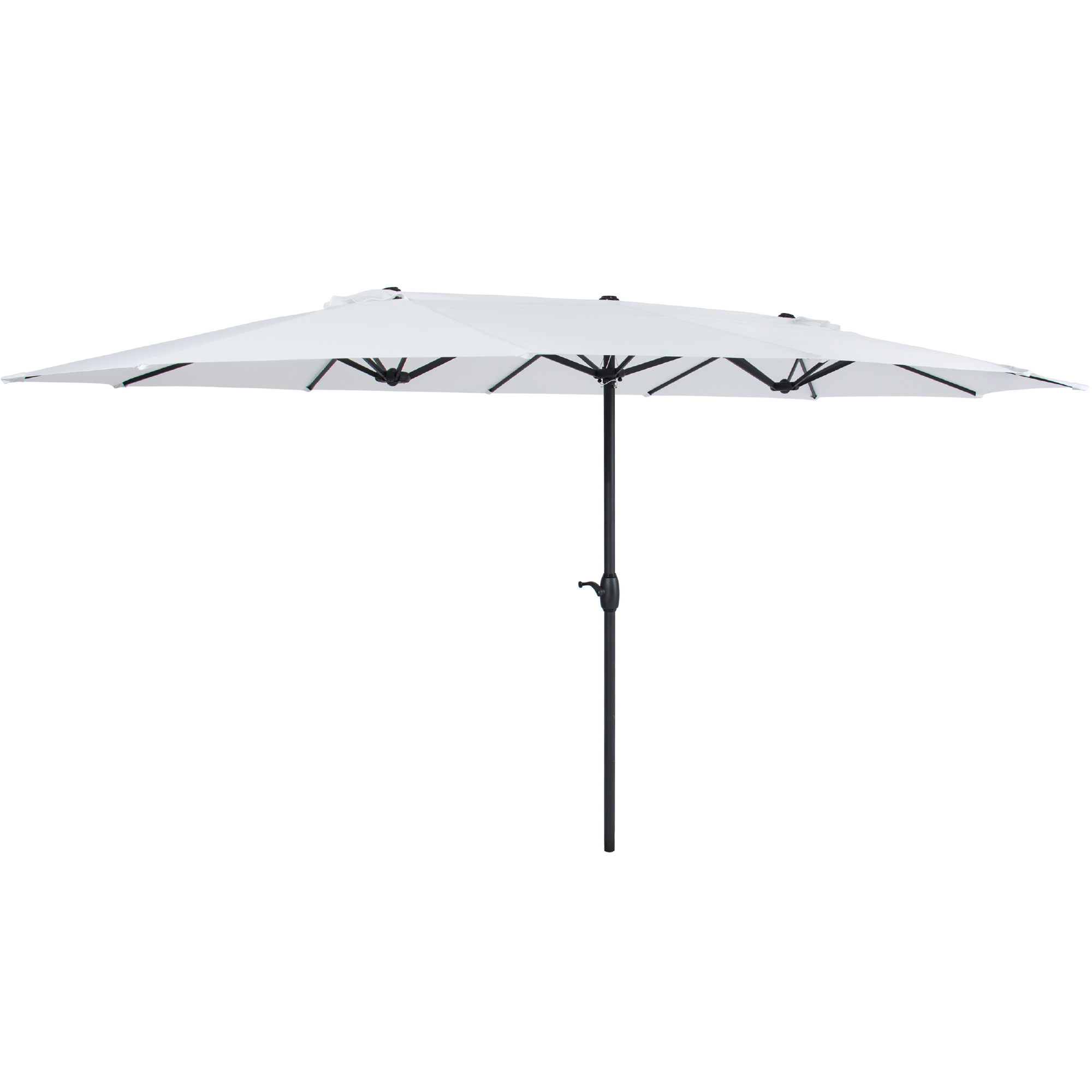 best choice products 15x9ft large double sided rectangular outdoor aluminum twin patio market umbrella w crank white walmart com