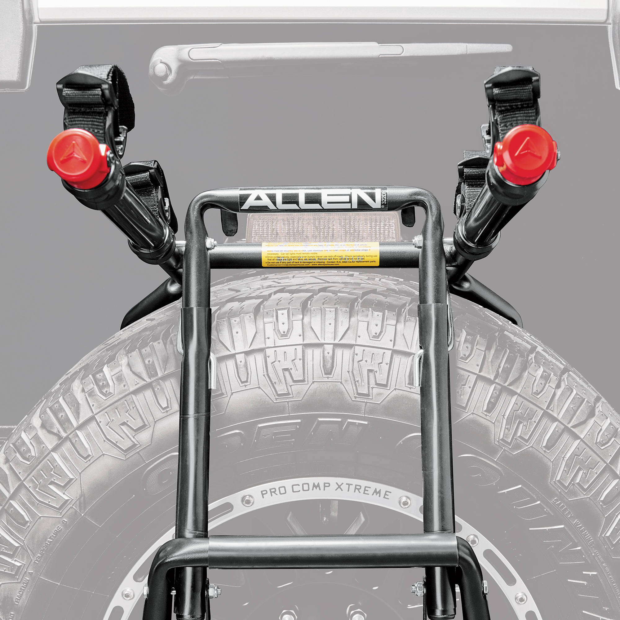 allen sports deluxe 2 bicycle spare tire mounted bike rack carrier 322dn walmart com walmart com