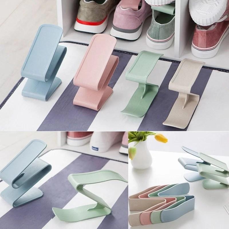 Household Home Portable Closet Storage Plastic Shoes Rack ... on Closet Space Savers Walmart  id=79846