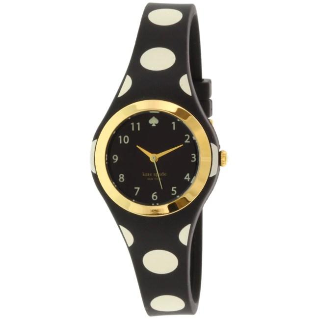 Kate Spade Women's Rumsey 1YRU0610 Black Rubber Quartz Fashion Watch