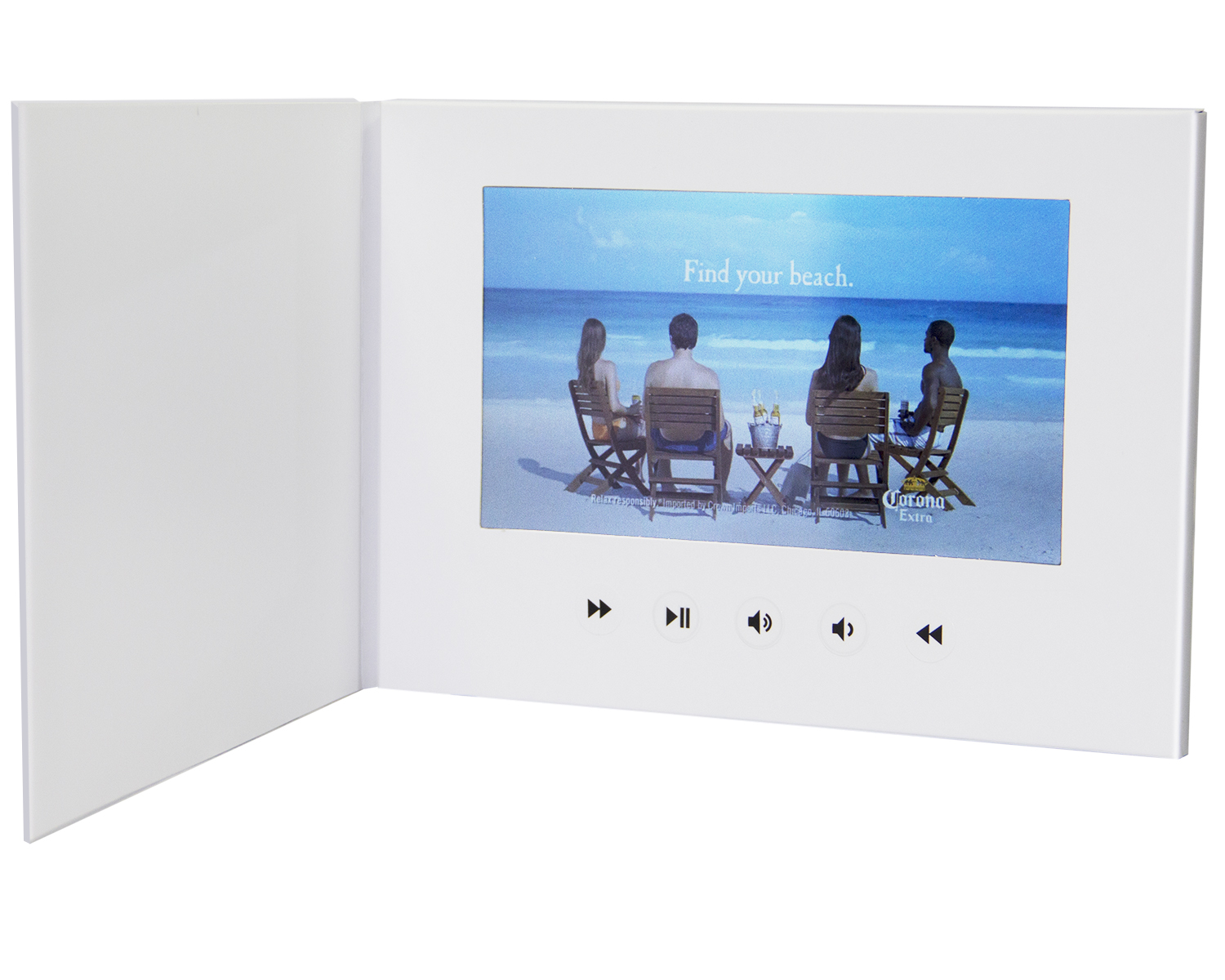 LuguLake 7″ Video Greeting Card,Video Brochure for Christmas, Anniversary, Marketing Include 2G Memory and Rechargeable Battery LCD Screen Digital Photo Frame