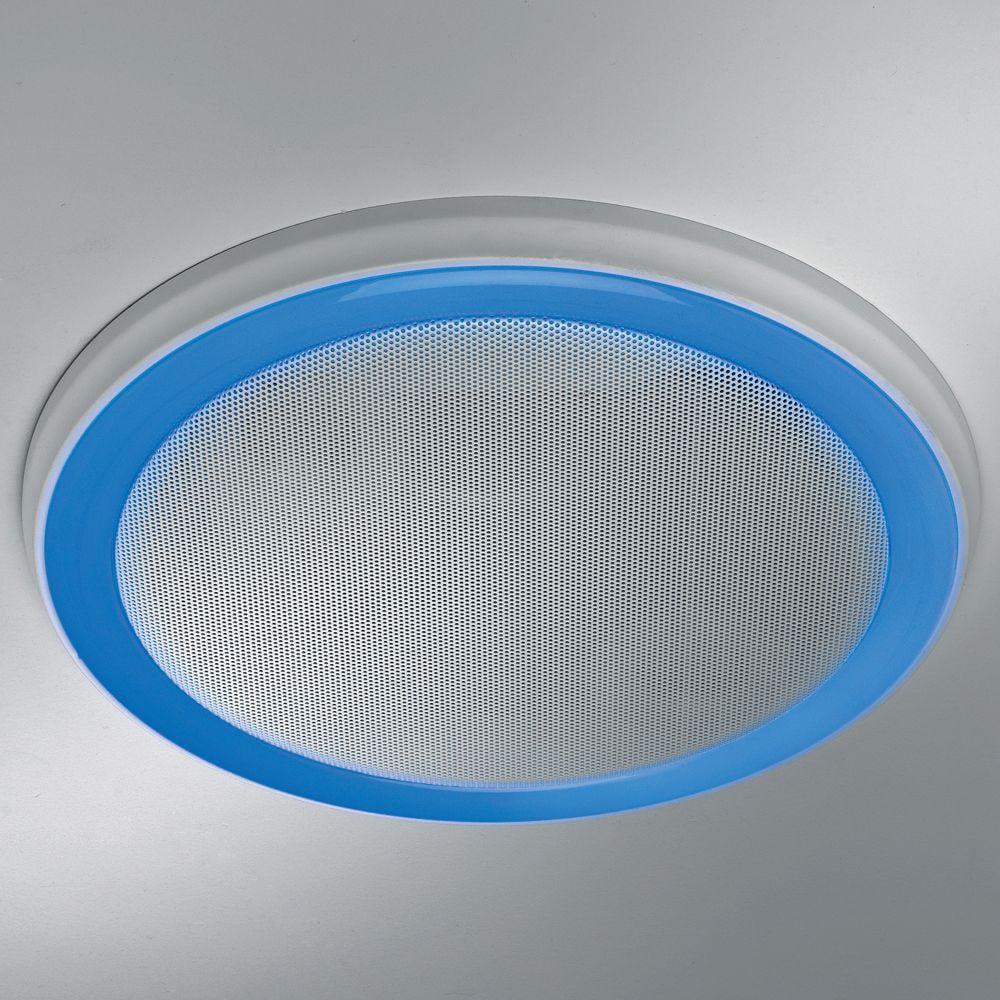 home netwerks white 100 cfm bluetooth stereo speakers bathroom exhaust fan new