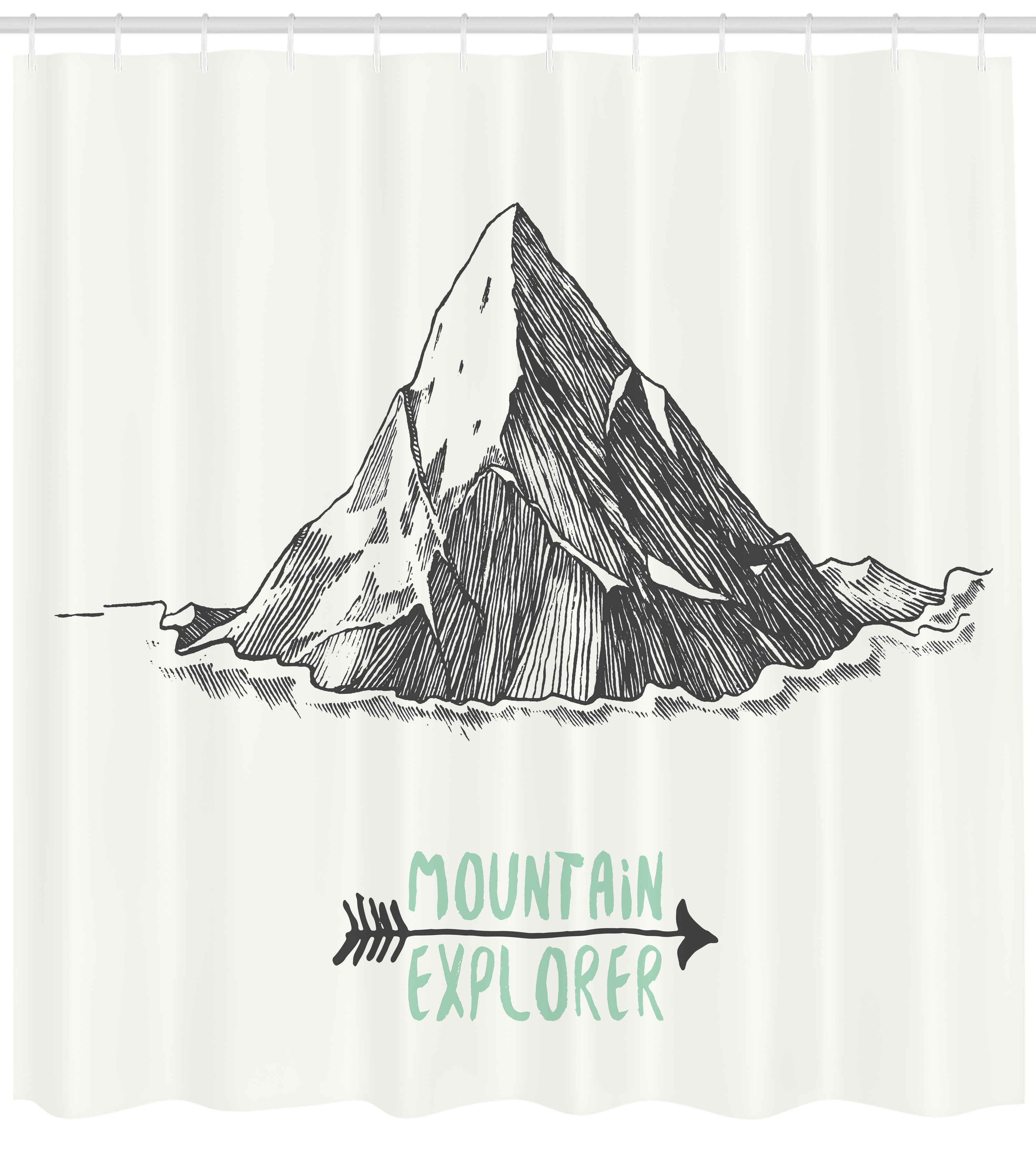 Explore Shower Curtain Sketch Style Mountain With An