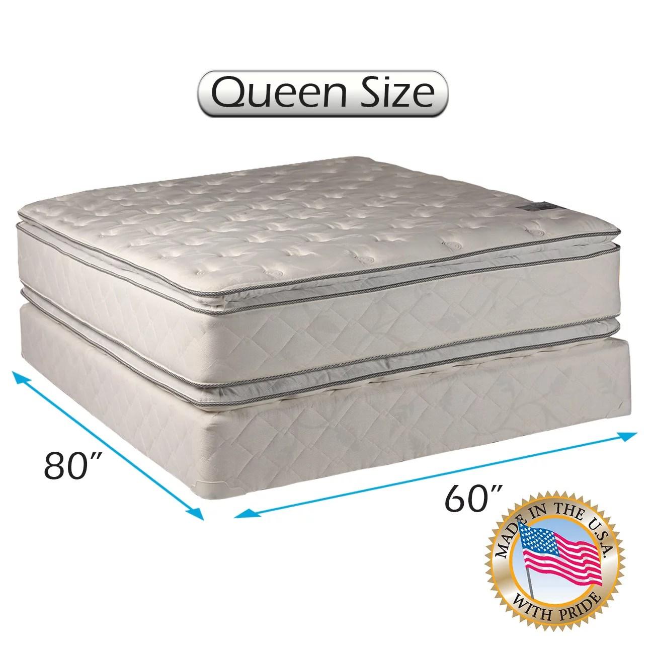 dream solutions comfort pillow top 12 queen mattress and box spring set