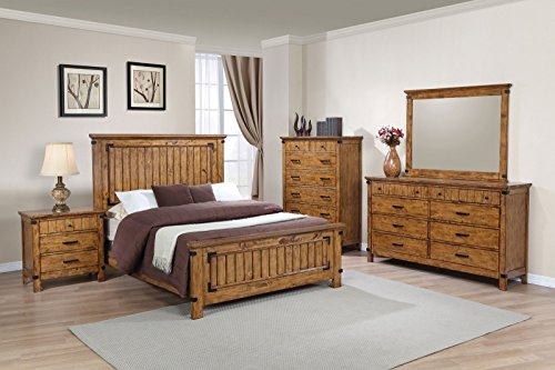 https www walmart com ip coaster brenner 5 piece twin bedroom set rustic honey size queen 305403822