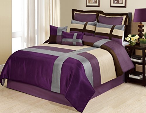 8 piece dorsey patchwork bed in a bag clearance bedding on walmart bedroom furniture clearance id=39067