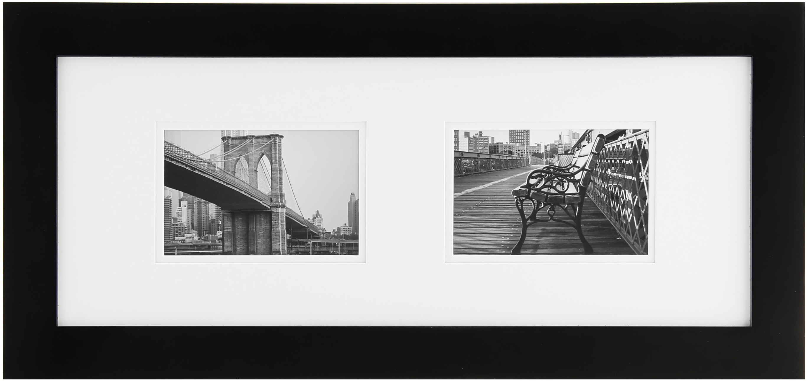 gallery solutions 8x20 black frame matted to 2 6x4