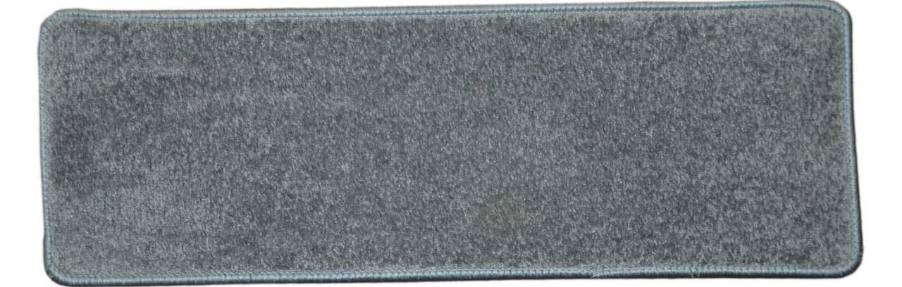 Dean Carpet Stair Treads 27 X 9 Gray Plush Set Of 13 Walmart | Plush Carpet Stair Treads | True Bullnose Carpet | Super Soft | Anti Slip | Wool Carpet | Wall Carpet