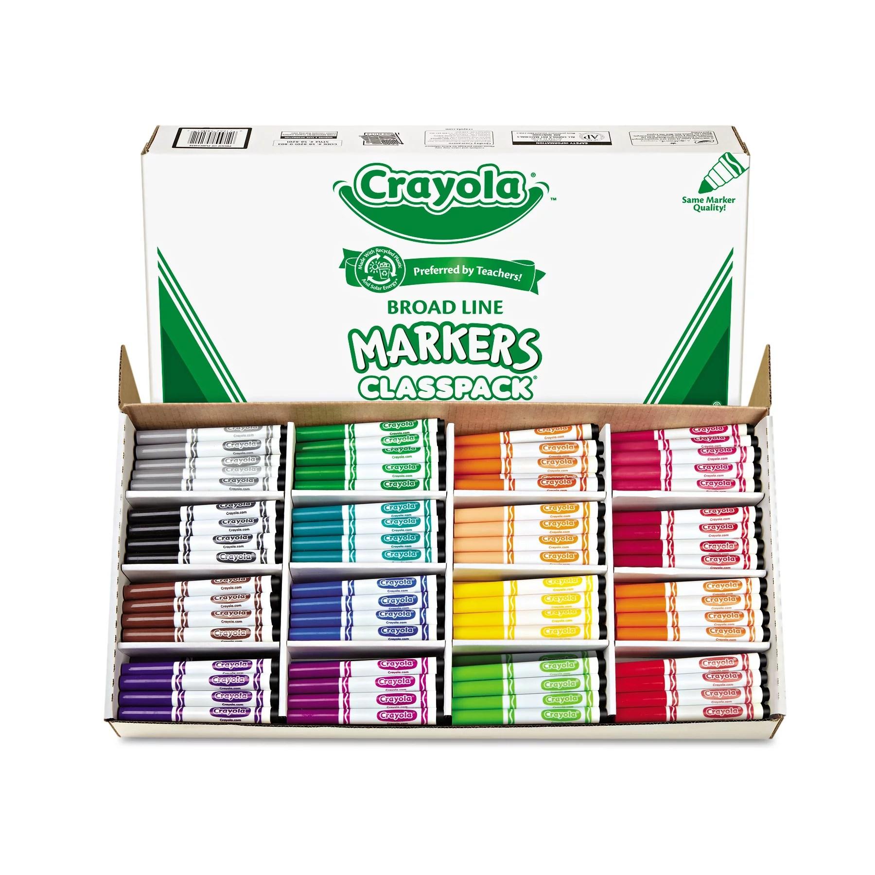 Crayola Broad Line Markers Bulk 256 Count Classpack Non
