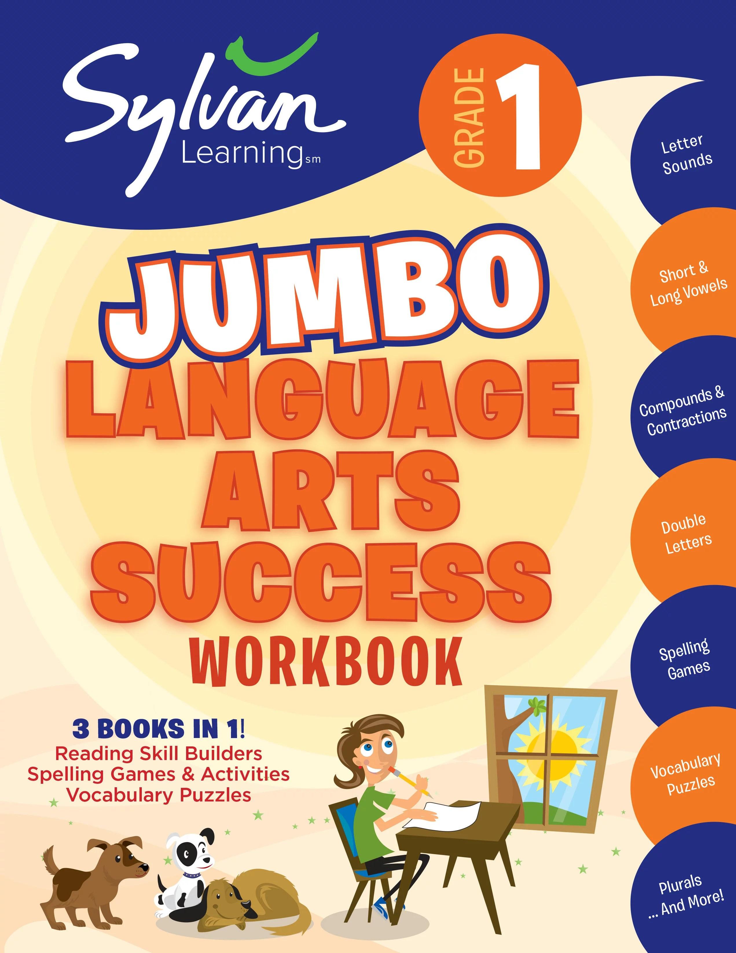 1st Grade Jumbo Language Arts Success Workbook Activities Exercises And Tips To Help Catch