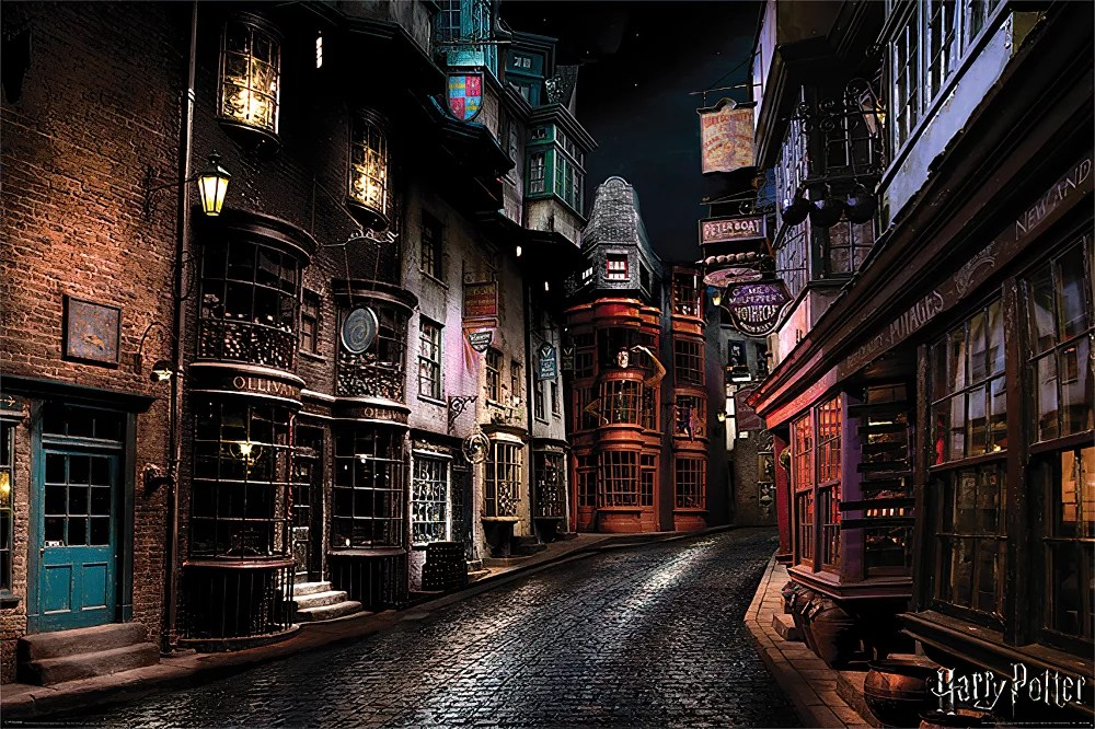 harry potter movie poster print diagon alley size 36 x 24