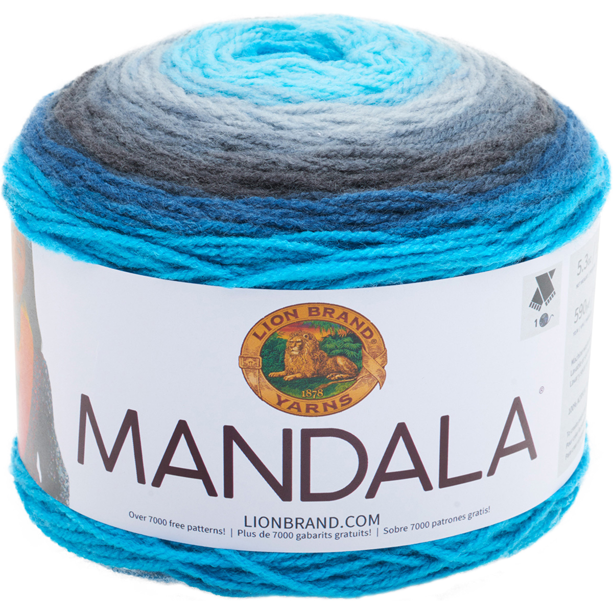 Lion Brand Yarns Mandala Acrylic Spirit Yarn, 1 Each