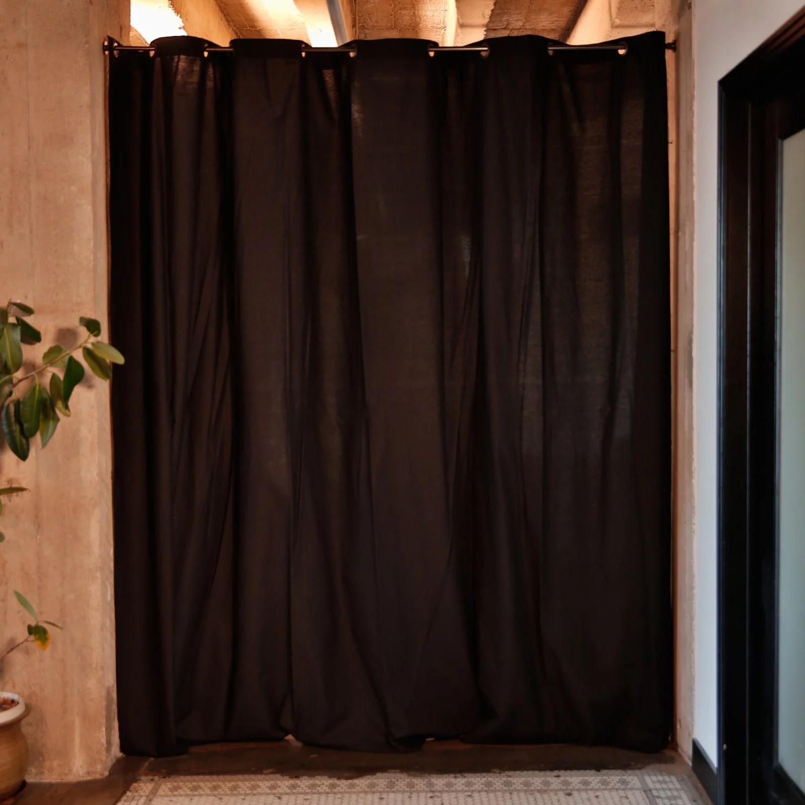 roomdividersnow muslin tension rod room divider kit