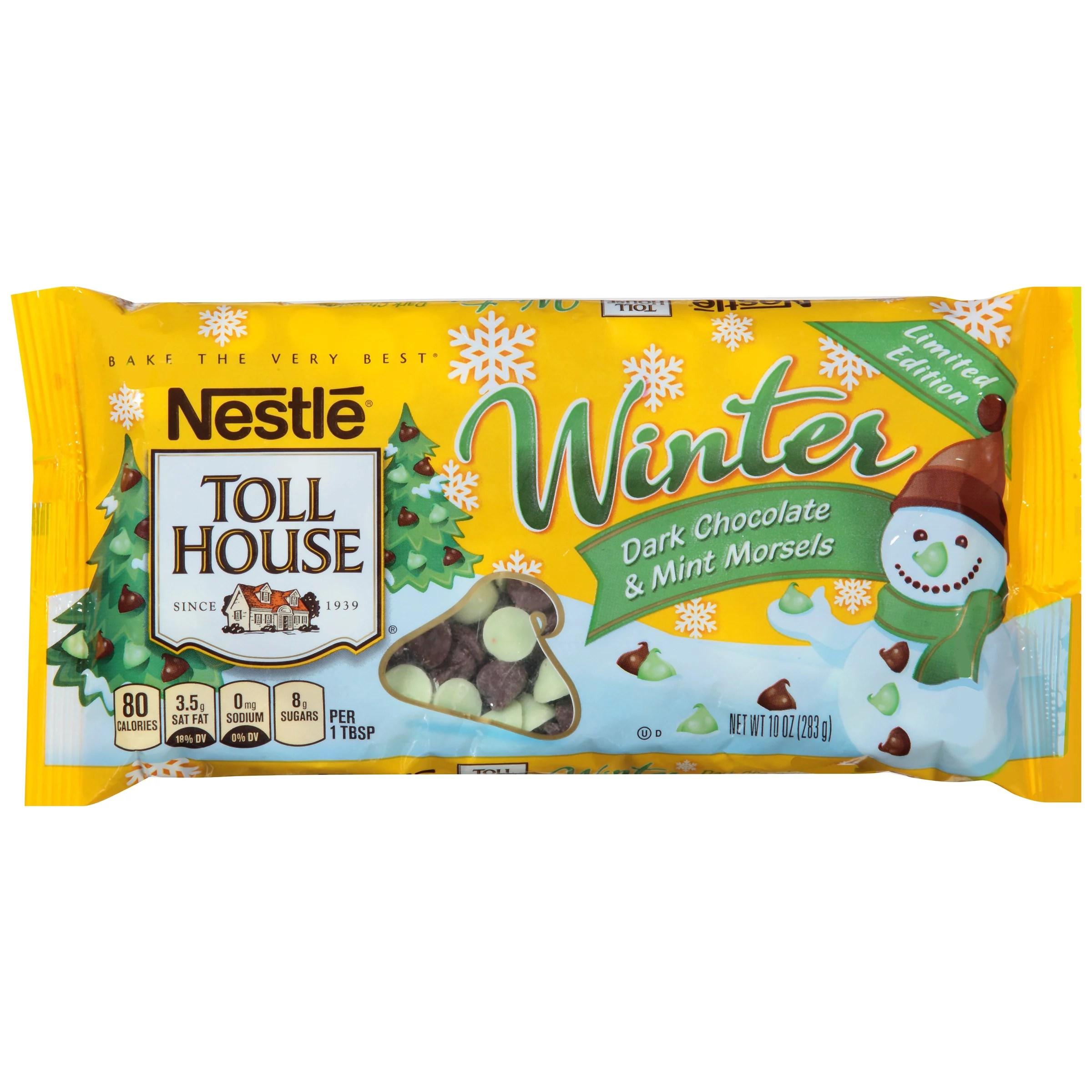 NESTLE TOLL HOUSE Winter Dark Chocolate Mint Morsels 10