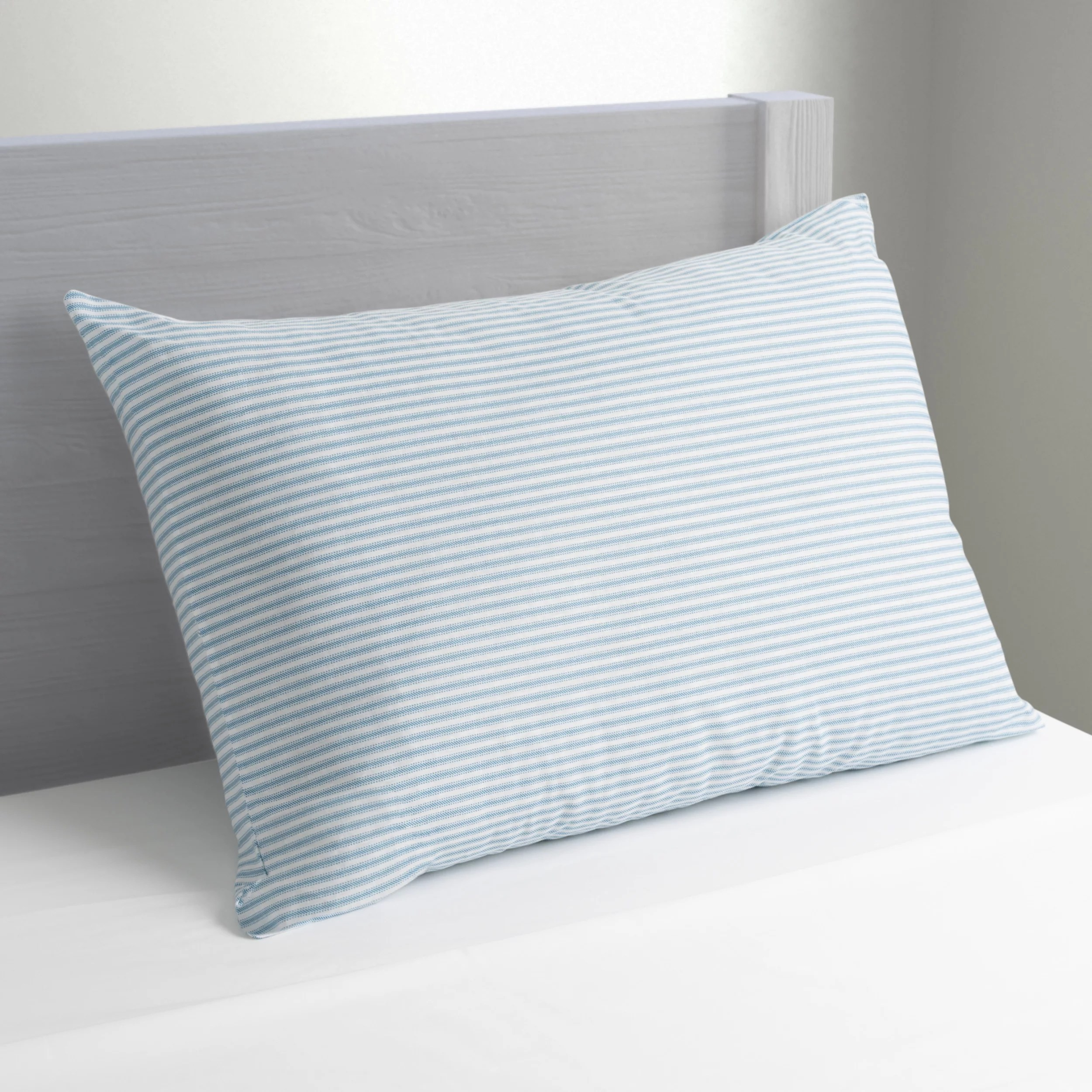 mainstays huge pillow 20 x 28 in blue and white stripe walmart com