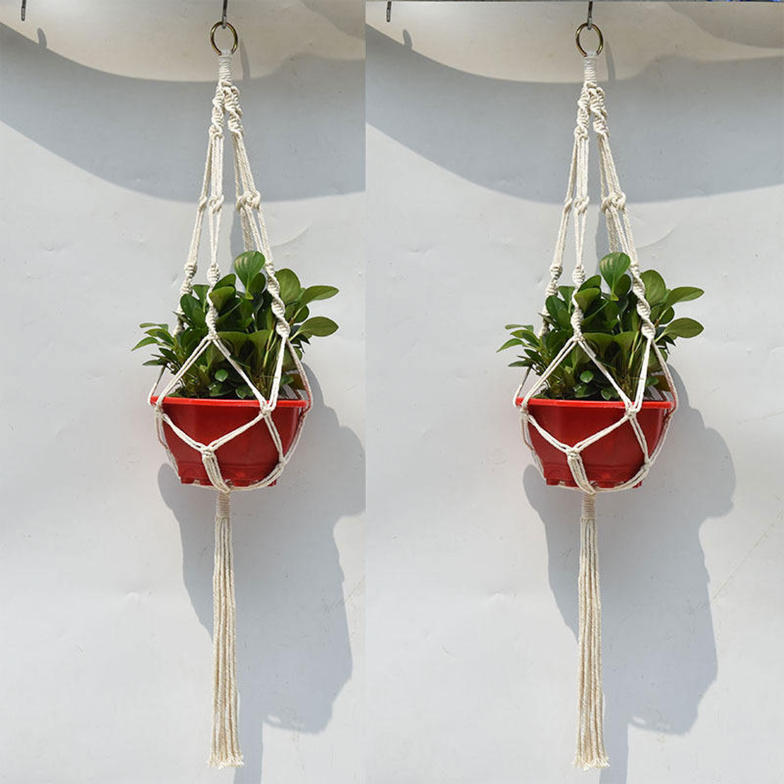 2 Pack Macrame Plant Hangers, Hanging Holder for Plant ... on Decorative Wall Sconces For Flowers Hanging Baskets Delivery id=14469