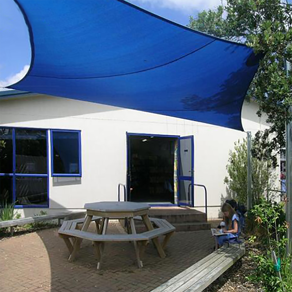 waterproof sun shade sail uv blocker patio paradise sail rectangle canopy permeable uv block fabric durable outdoor swimming backyard playground