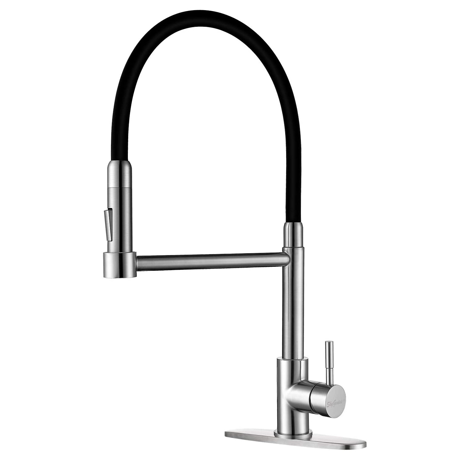 skygenius single handle kitchen faucet with sprayer 360 degree pull out kitchen sink faucets