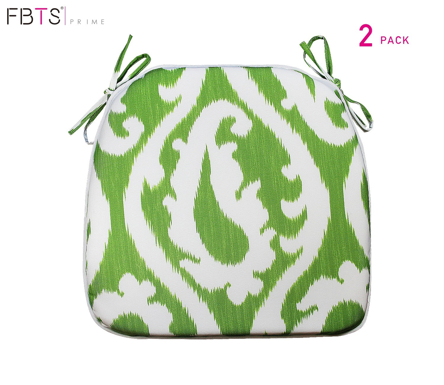 fbts prime outdoor chair cushion set of 2 16x17 inches patio seat cushions green square chair pads for outdoor patio furniture garden home office walmart com walmart com