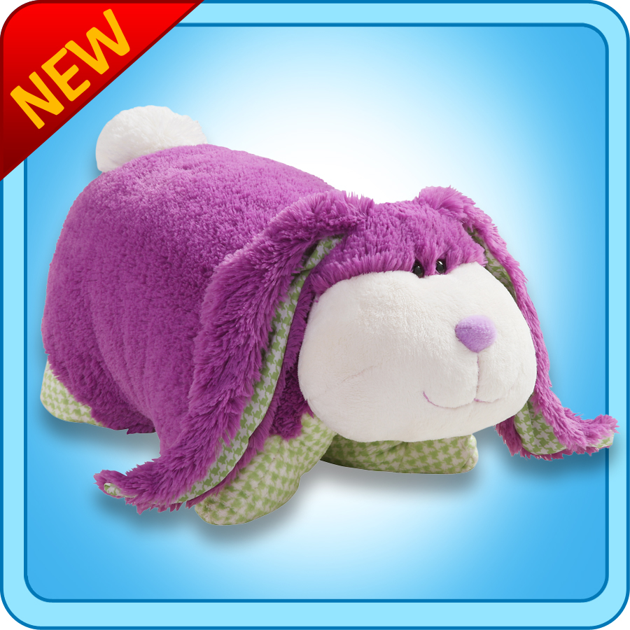 authentic pillow pets fluffy bunny purple small 11 plush toy gift walmart com