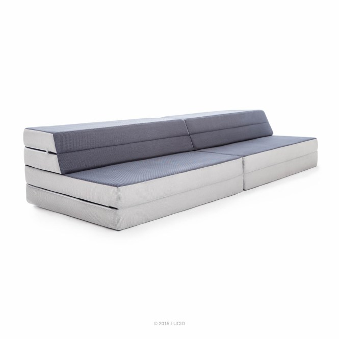 Lucid King Twin Xl Convertible Folding Foam Mattress Sofa Folds To 8 In 4 Or A