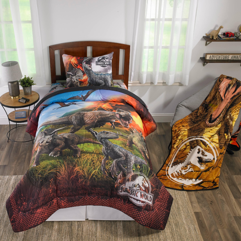 Jurassic World Dinosaur Kids Room Bedroom Decor Bedding