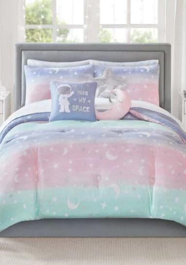 Pastel Rainbow Stardust Moon Amp Stars Girls Colorful
