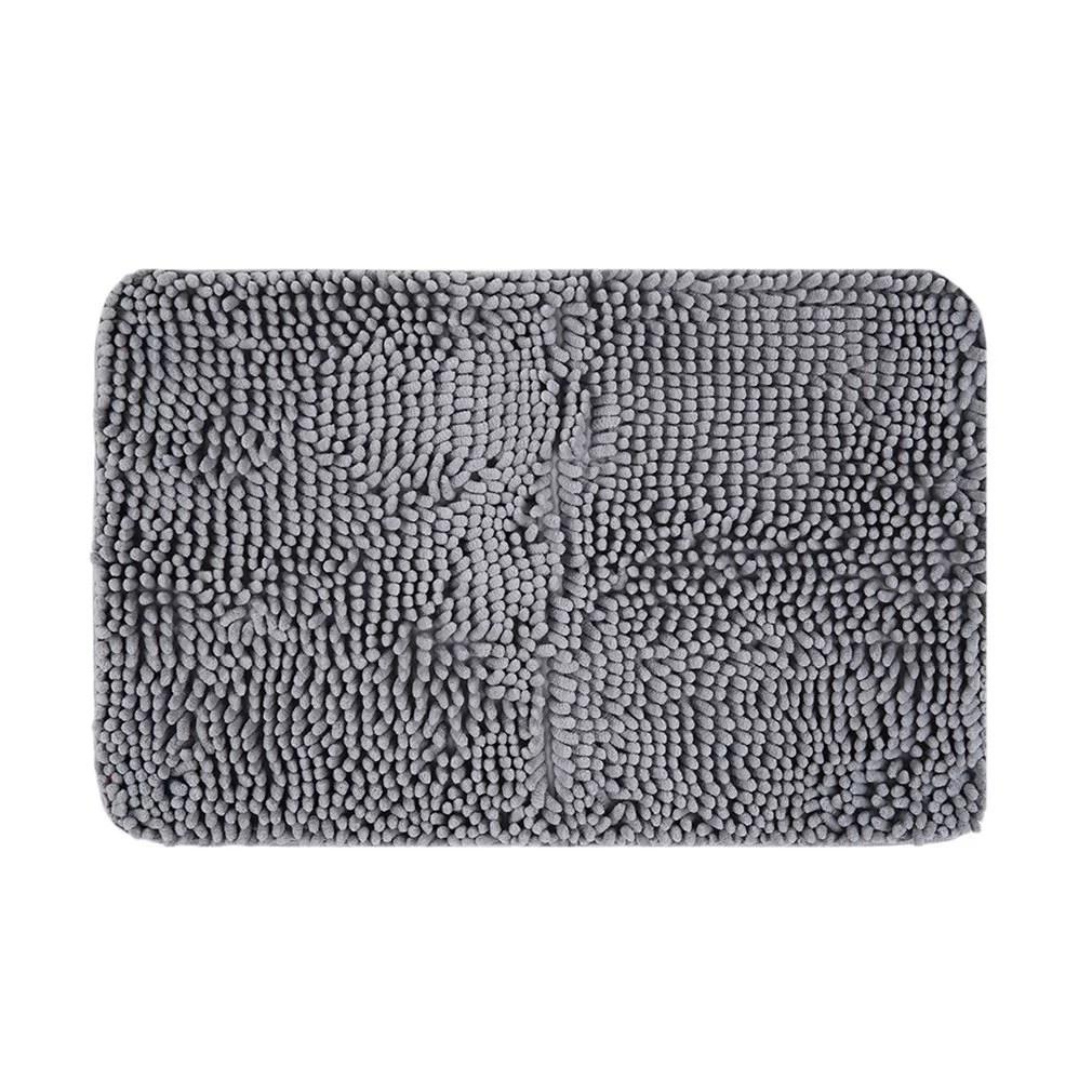 40x60cm large size solid color microfiber chenille on farmhouse colors for bath mats walmart id=89461