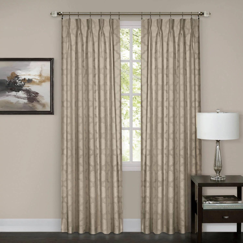 achim windsor pinch pleat window curtain panel