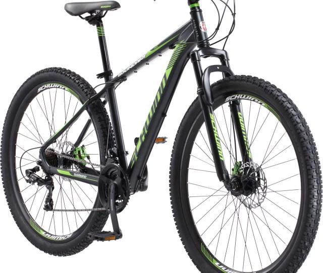Mens Schwinn Boundary Mountain Bike Dark Green And Black Walmart Com