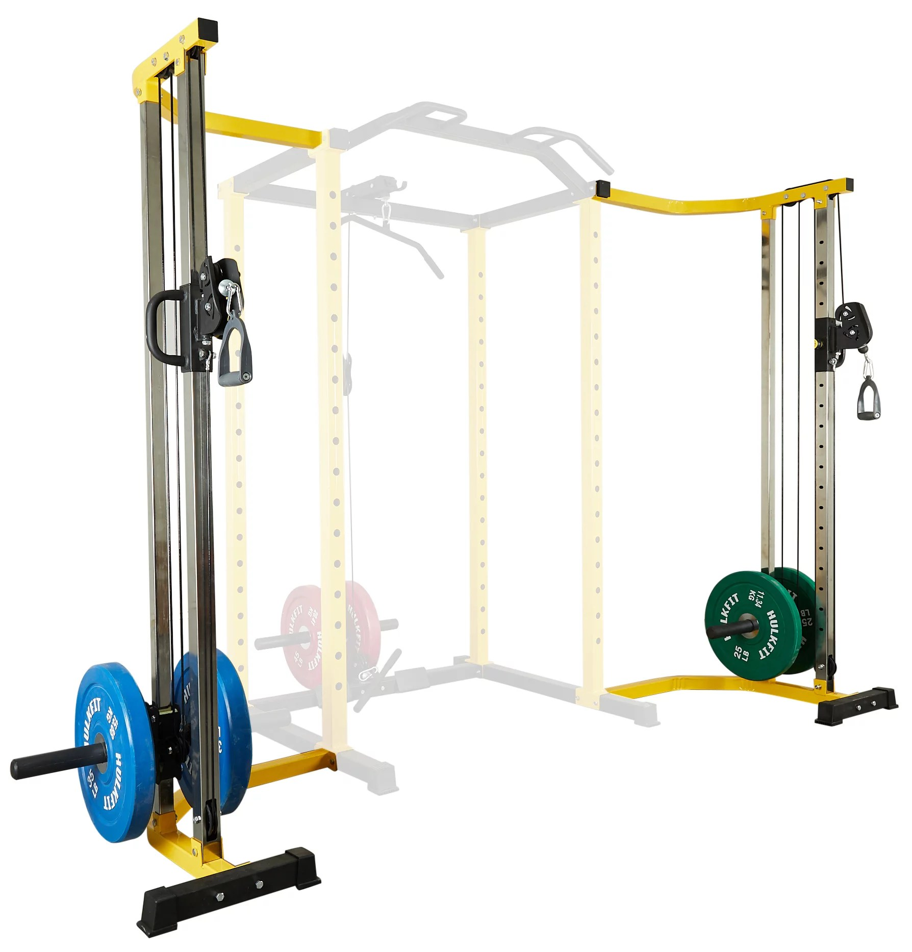 everyday essentials 1000 pound capacity multi function adjustable power cage with j hooks dip bars and other optional attachments