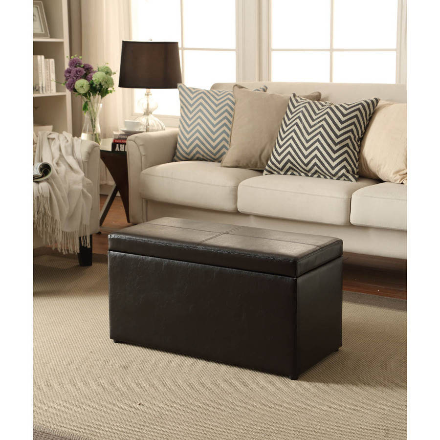 Mainstays Faux Leather Storage Bench