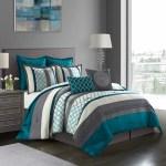 Nanshing Avalon 8 Piece Bedding Microfiber Comforter Set With Bonus Pillows And Shams Full Queen Teal Walmart Com Walmart Com