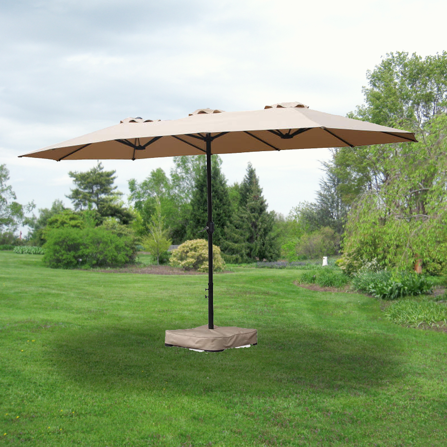 garden winds replacement canopy for 15 ft triple patio umbrella